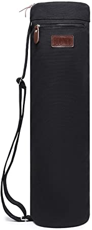 Boence Yoga Mat Bag, Full Zip Exercise Yoga Mat Sling Bag with Sturdy Canvas, Smooth Zippers, Adjustable Strap, Large Functional Storage Pockets - ...
