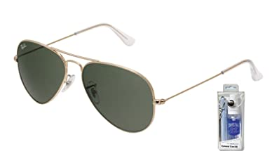 1642182d7ef Image Unavailable. Image not available for. Color  Ray Ban RB3025 W3234  55mm Gold w  Green Lens Aviator Sunglasses