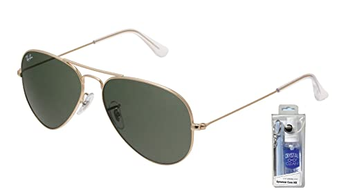 Amazon.com: Ray Ban RB3025 W3234 55 mm. Oro W/lente verde ...