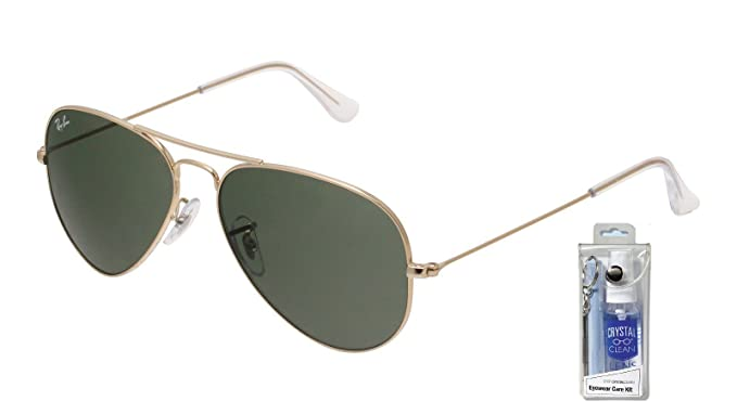 ray ban aviator sunglasses rb3025 w3234  ray ban rb3025 w3234 55mm gold w/ green lens aviator sunglasses
