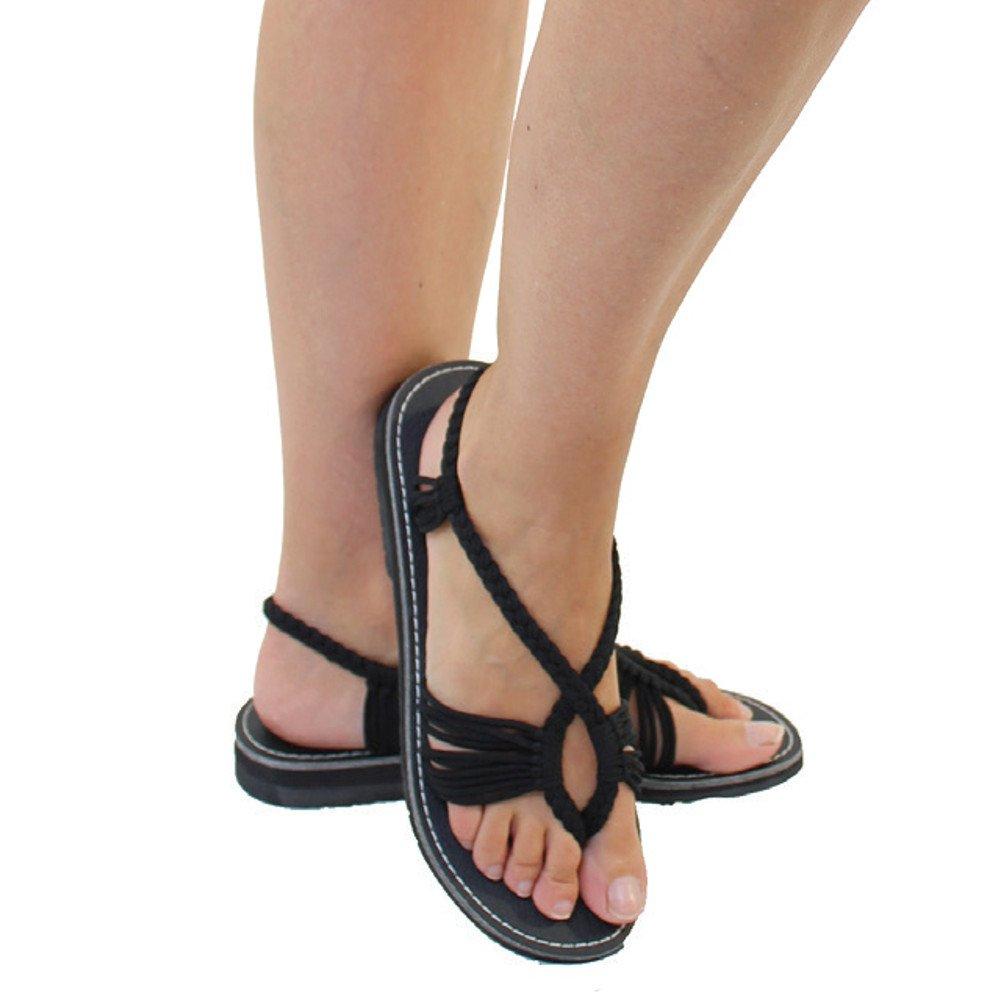 Sandales /à corde Femme Morgane Noir