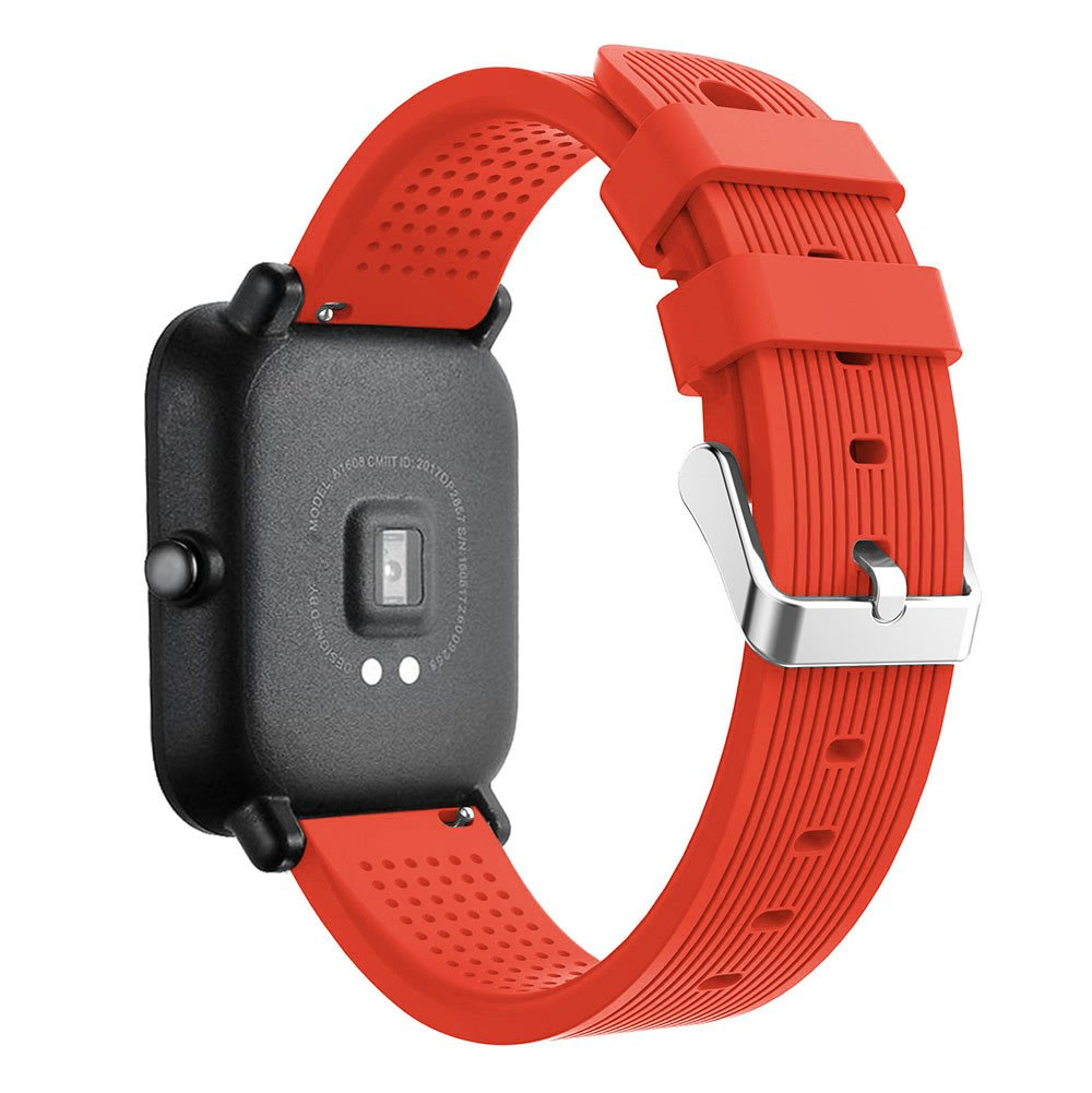 iumei for Huami Amazfit Bip Watch Band, Sport Replacement Soft Silicone Strap Bracelet Bands Wirstband for Huami Amazfit Bip Watch (Orange)