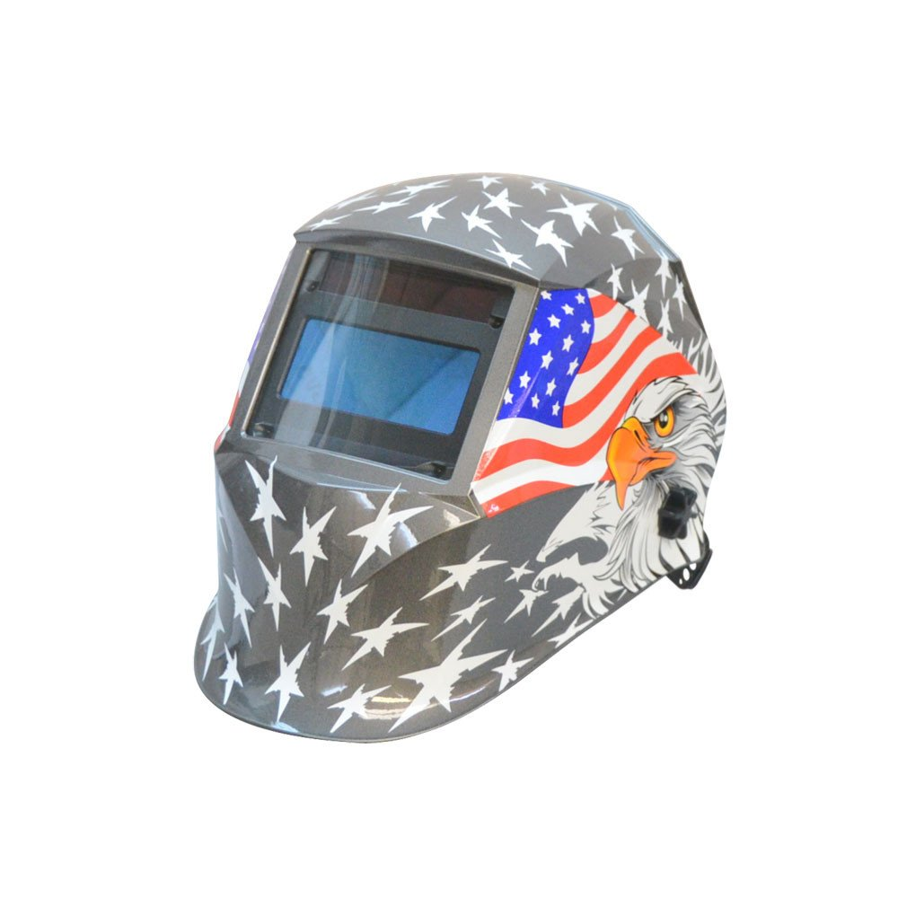 DBM IMPORTS USA Flag Eagle Solar Auto-Darkening Filter Welding Helmet Welder Mask Darkening 9-13 Shades Adjustable by DBM IMPORTS