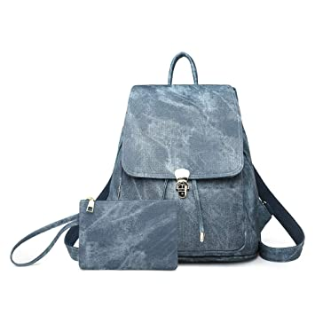 PU Leather Shoulder Bag,Geometry Backpack,Portable Travel School Rucksack,Satchel with Top Handle