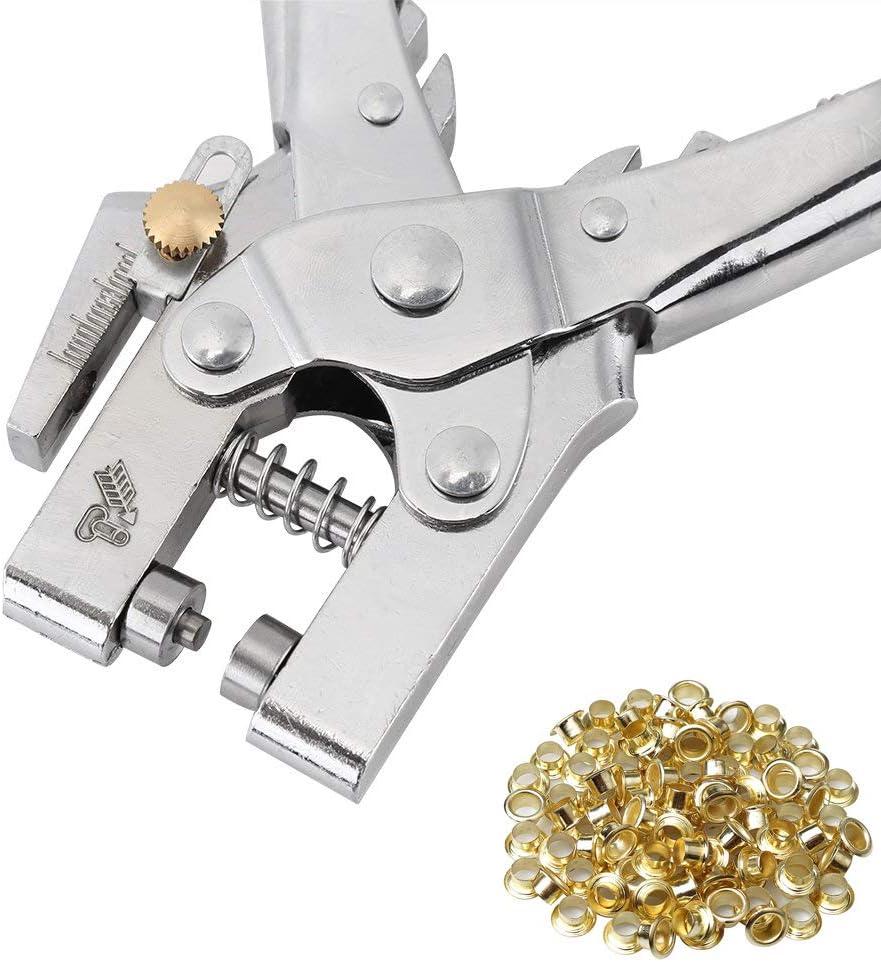 cord/ón perforador 3 Unidades Cuero de Piel artesan/ía Costura Kit de Herramientas perforadoras para Costura de punz/ón de Agujero VOSAREA Agujero para Bricolaje Diamante