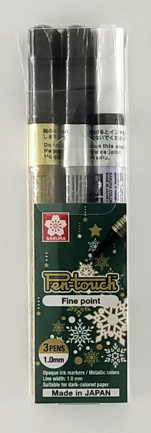 Sakura Pen-touch Permanent Markers - Pack of 3 markers - Gold, Silver & White (Fine Point) (B07RQXPMMH) Amazon Price History, Amazon Price Tracker