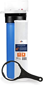 "Aquaboon 20"" x 4.5"" Big Blue Whole House Water Filter System 