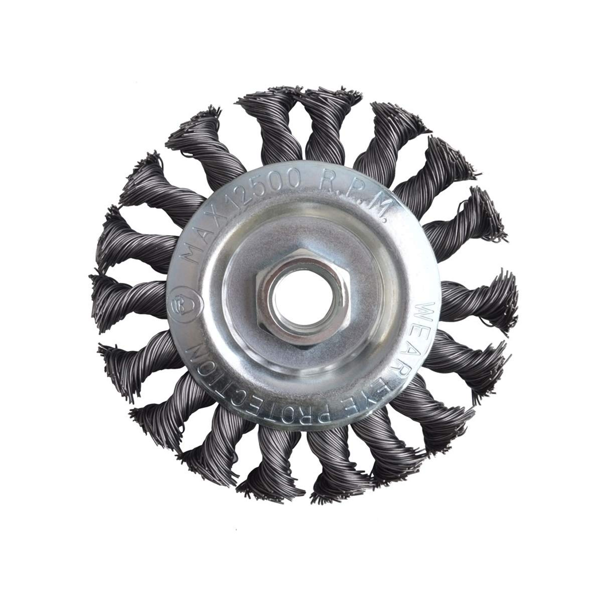 Twist Knot with 5/8-Inch-11 Threaded Arbor 4-Inch-by-.020-Inch Forney 72759 Wire Wheel Brush