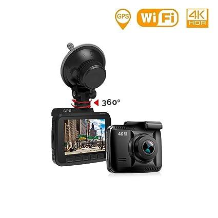 Lifechaser - Cámara para salpicadero de coche 4K UHD WIFI GPS Super Night Vision 150°