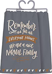 Primitives by Kathy 34162 Hand-Lettered Dish Towel, 28 x 28-Inches, Nice Normal Family