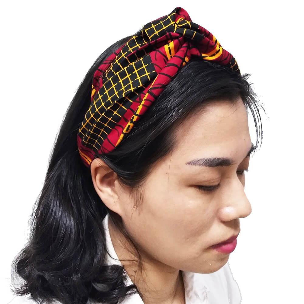 HongyuAmy Elastic Africanprint Wax Turban Twist Headband Fashion Yoga  Exercise ... b6c78351a8d