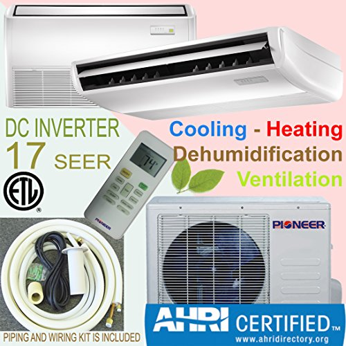 Pioner Floor - Ceiling Split Ductless Inverter+ Heat Pump System Set, 24000 (Heat Pump Hspf)