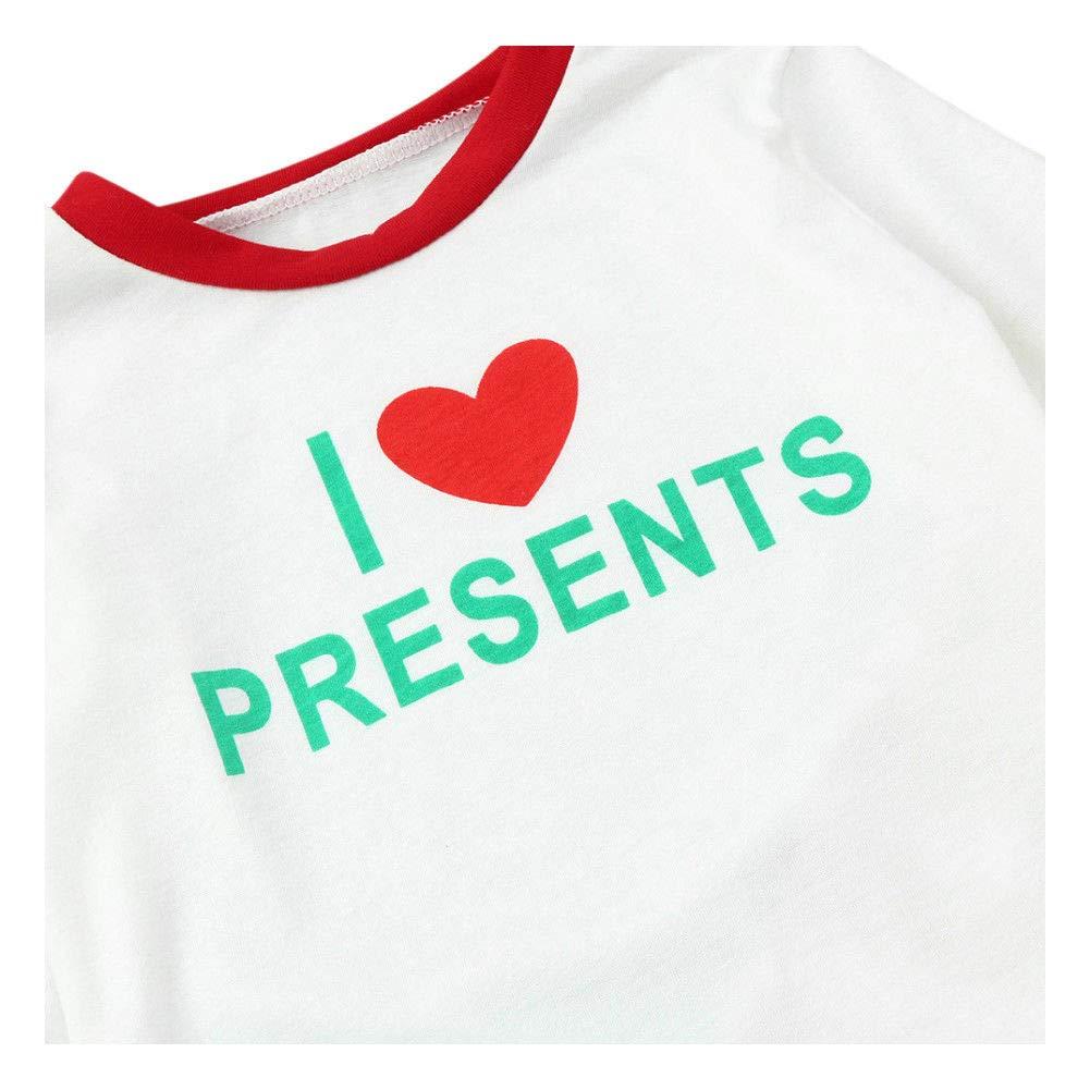 Xinvision Christmas Family Pyjamas Sleepwear Outfits Printed Split Pyjama Set