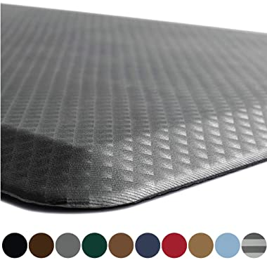 Kangaroo Original Standing Mat Kitchen Rug, Anti Fatigue Comfort Flooring, Phthalate Free, Commercial Grade Pads, Waterproof, Ergonomic Floor Pad for Office Stand Up Desk, 32x20, Gray