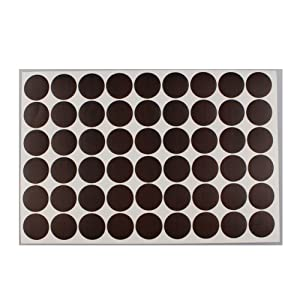 MyLifeUNIT Home Office Screw Holes Cover Caps Stickers (1 Sheet 54 Caps) (Black Walnut Wood)