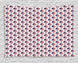 4th of July Tapestry, Independence Day of United States of America Greatest Country in World, Wall Hanging for Bedroom Living Room Dorm, 80 W X 60 L Inches, Red White Navy Blue