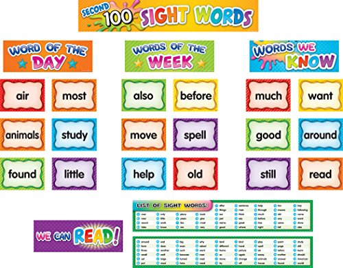 (Teacher Created Resources Second 100 Sight Words Pocket Chart Cards (TCR20846))
