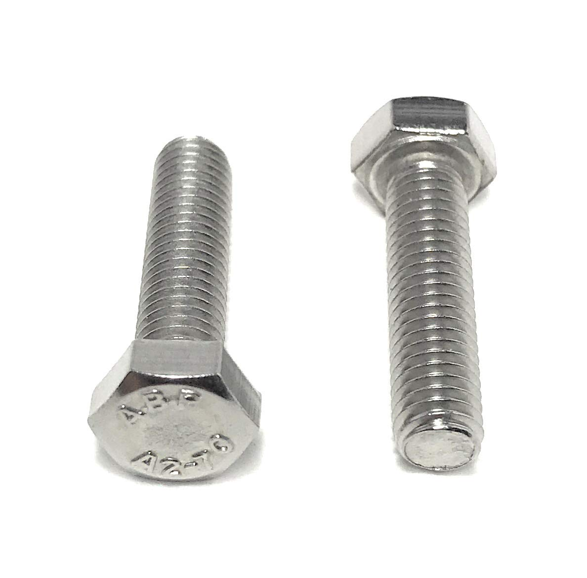 Fully Threaded Bolts M5 x 20mm Hexagon Head Set Screws A2 Stainless Steel