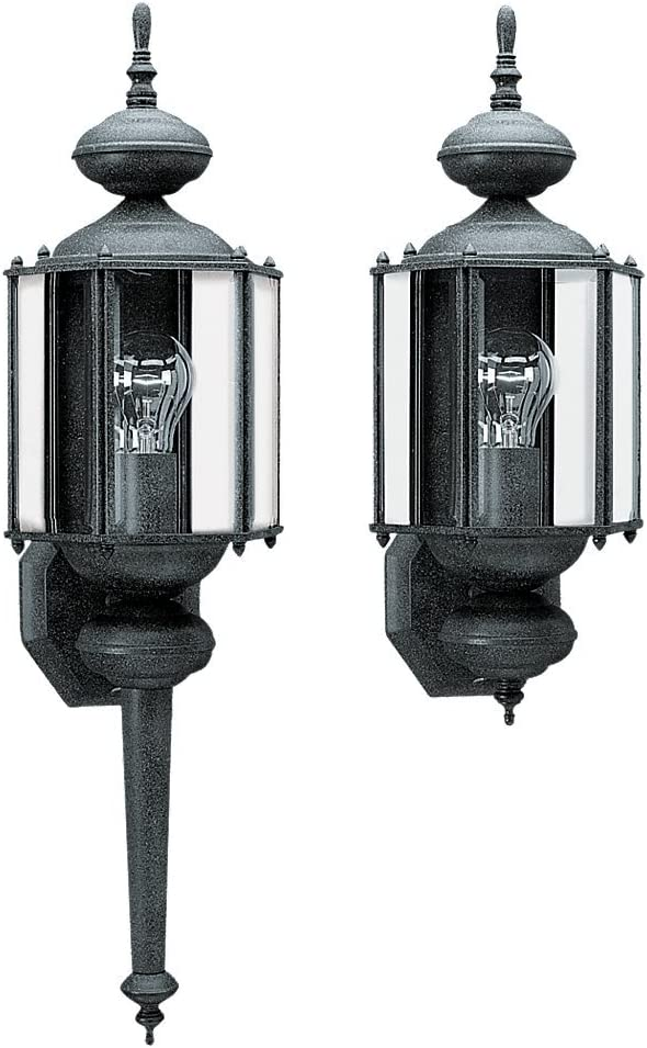 FREE SHIPPING New OEM Sea Gull Lighting Black Kent Outdoor Porch Light Lantern