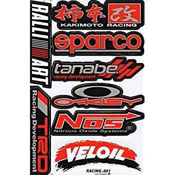 Sponsor decal sticker tuning racing sheet size 27 x 18 cm for car or motorbike