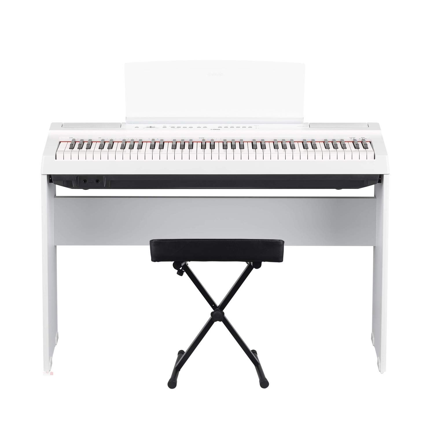 Yamaha P121 73-Key Weighted Action Digital Piano - White with Matching L121 White Furniture Stand and Bench by Yamaha Bundle (Image #2)