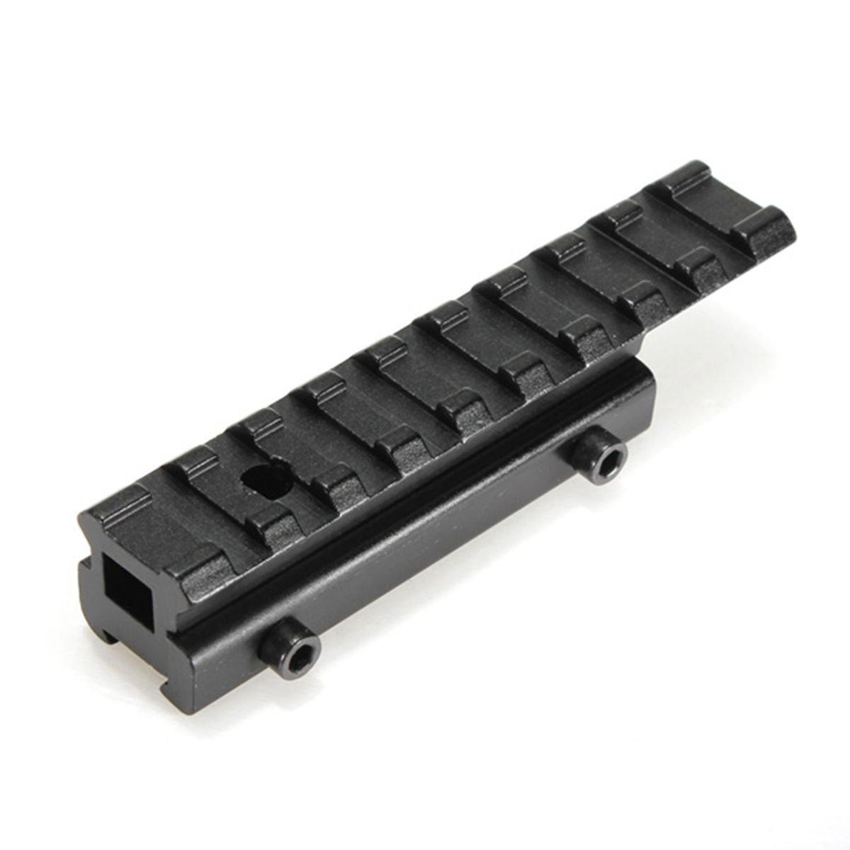 Adaptador de carril - SODIAL(R)adaptador en riel de Picatinny del tejedor de extension 11 mm a 20 mm de alcance tactico Negro