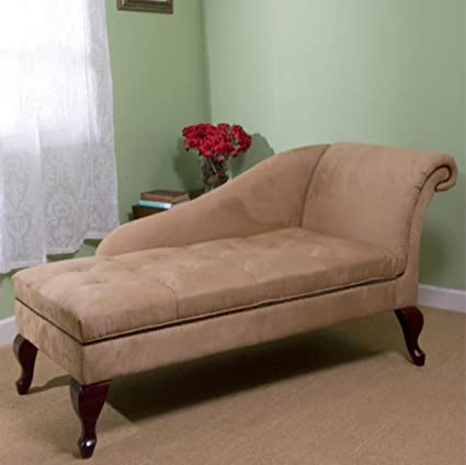 Modern Storage Chaise Lounge Chair - This Tufted Cushions is Microfiber  Upholstered - Perfect For Your Living Room, Bedroom, or Any Space in Your  Home ...
