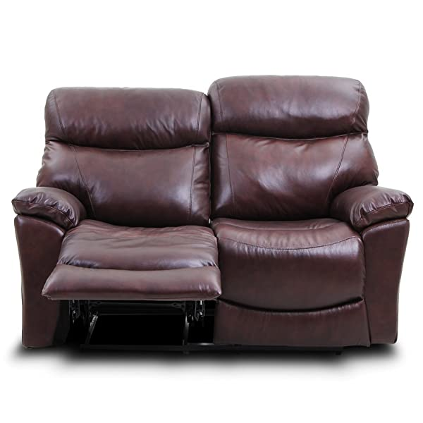 Stateville Classical Double Reclining Loveseat Top Grain Leather