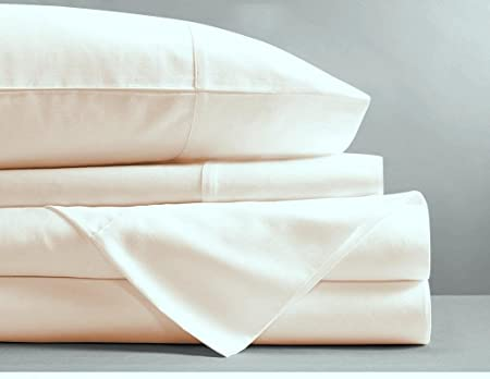 4 Pce Sheet Set Quality TENCEL® COTTON White Cream Mocha DOUBLE KING