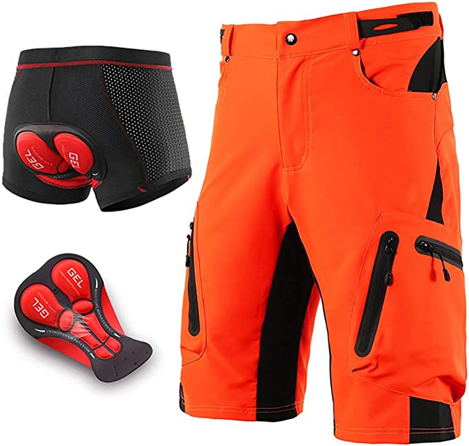 Herren Fahrrad Hose Men MTB Mountain Bike Shorts Gel Gepolstert Radsport Hosen