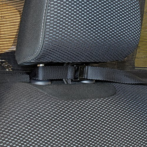Bushwhacker - Paws n Claws Deluxe Dog Barrier 56'' Wide - Ideal for Trucks, Large SUVs, Full Sized Sedans - Pet Restraint Car Backseat Divider Vehicle Gate Cargo Area Travel Trunk Mesh Net Screen by Bushwhacker (Image #2)