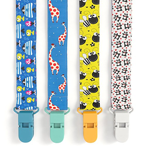 Angels UP Double-Side Leash Design Pacifier Clip for Baby, (Smile Baby System)
