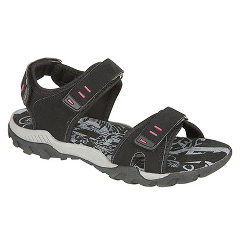 PDQ Damen Sport Sandale / Trekkingsandale mit Klettverschluss (39 EU) (Schwarz) HQDoT7XSj