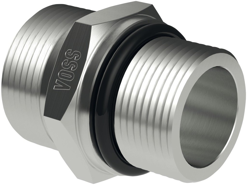 Straight male stud coupling, GE 20-S1 1/16'-12 UNF