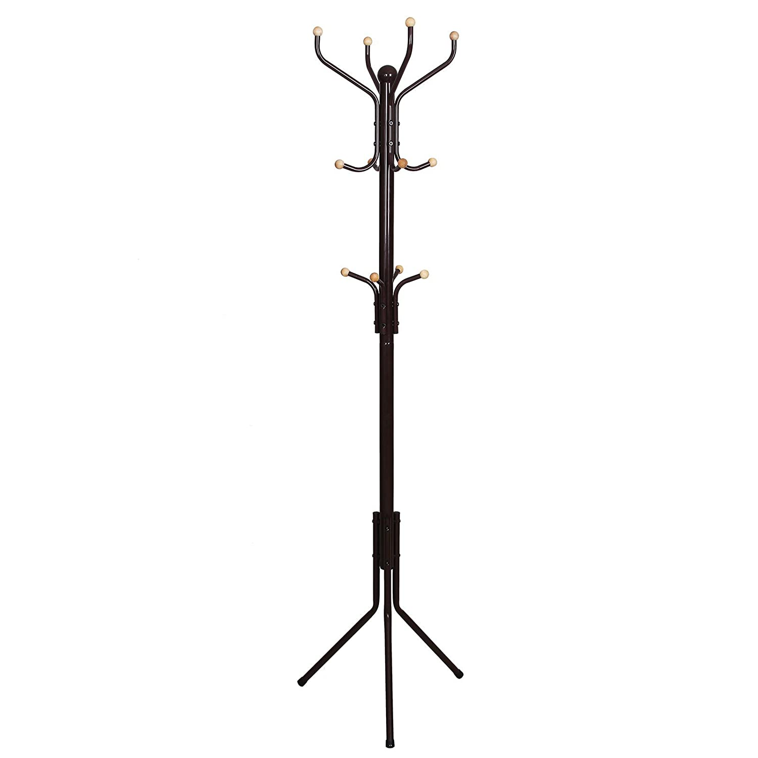 Amazon.com: SONGMICS Metal Coat Rack 12 Hooks Display Hall Tree for Clothes  Hats and Bags Espresso URCR18Z: Kitchen & Dining