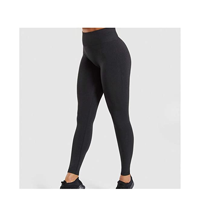 Amazon.com: LinJiaJia_shop - Leggins de cintura alta sin ...