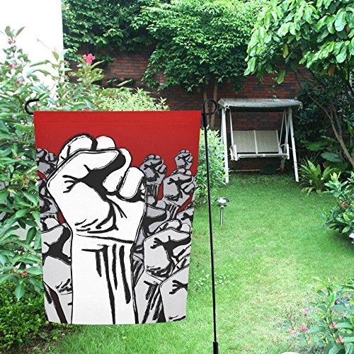 Grunge Revolution - Unique Debora Customize Decorative Garden Flag Outdoor Flags 28x40 Inch Grunge Revolution For Patio, Lawn and Garden FL-104