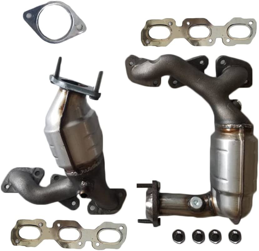 Catalytic Converter Exhaust Manifold Assembly Front & Rear Sides Fit for 2001-2007 Ford Escape/2001-2006 Mazda Tribute/2005-2007 Mercury Mariner 3.0L V6