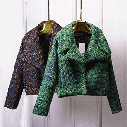 ASHORESHOP Womens Wool Coat Women Slim Short Tweed Jacket