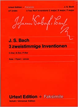 Learn all bach inventions urtext