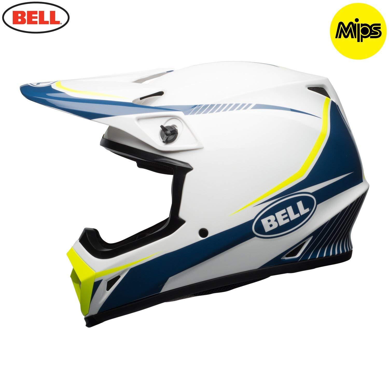 HELMET BELL MX-9 MIPS TORCH WHITE//BLUE//YELLOW L