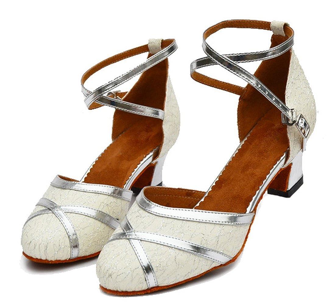TDA Women's Closed Toe Ankle Strap Glitter Glitter Glitter Synthetic Ballroom Latin Modern Dance Wedding Shoes B07C42ZJGK Dance 46b7cf