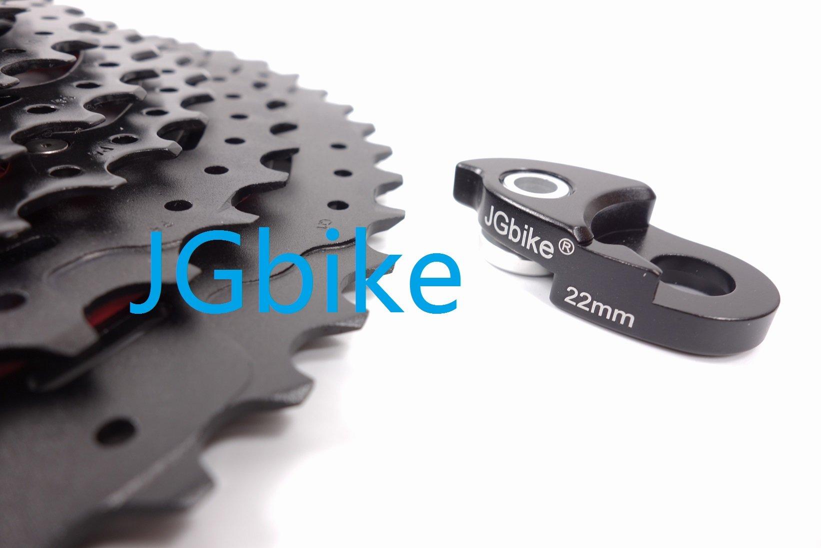 Sunrace 11-speed 11-50T CSMX80 wide ratio MTB Cassette freewheel with rear derailleur extender by JGbike (Black Chrome) by JGbike (Image #7)