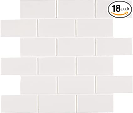 MS International NWHIXG White Glossy Staggered X In X Mm - 6 x 12 white porcelain tile