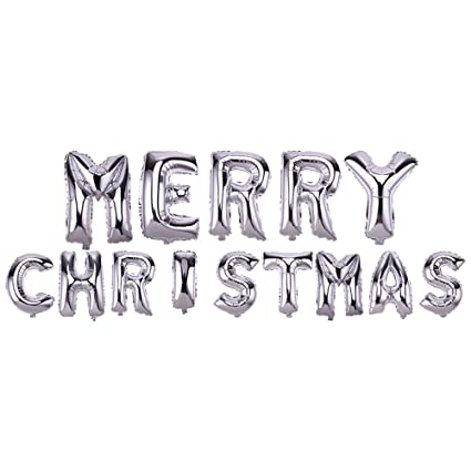 Image Unavailable Not Available For Color Foil Balloons Happy Birthday Merry Christmas Letter