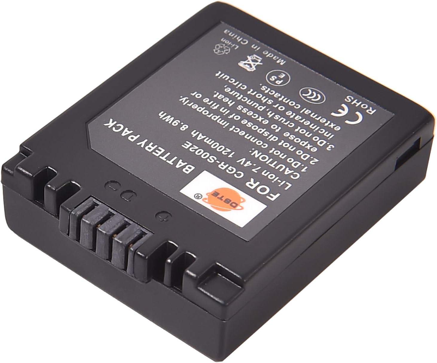 DMC-FZ4 DMW-BM7 and Lumix DMC-FZ1 CGA-S002A DMC-FZ10 CGA-S002E DMC-FZ15 DSTE/® S002E Li-ion Bater/ía para Panasonic CGA-S002 DMC-FZ3 DMC-FZ20 DMC-FZ2 DMC-FZ5