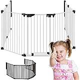 MARC - Chimenea Seguridad |190cm – 370cm | Bebé Niños Guardia Puerta | W4