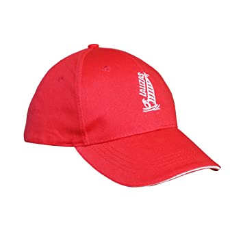 Lalizas Gorra com sujeción y clip de seguridad | en tonos de azul marino, rojo o beige | 100% algodón (rojo): Amazon.es: Deportes y aire libre