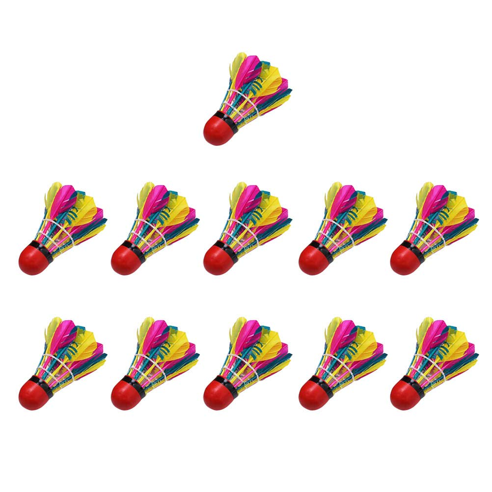VORCOOL Shuttlecocks, 11 Pcs Colorful Shuttlecocks Creative Beautiful Shuttlecocks