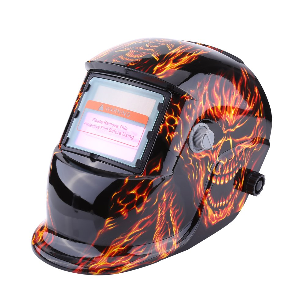 Welding Helmet Solar Powered Auto Darkening Professional Hood Mask with Adjustable Shade Range #9~#13 Face Protector